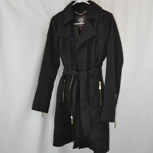 NWOT Vince Camuto Black Trench/Rain Coat - S
